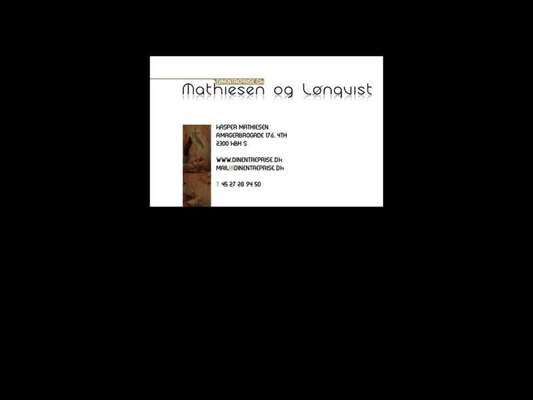 Mathiesen & Lønqvist - 11.03.13