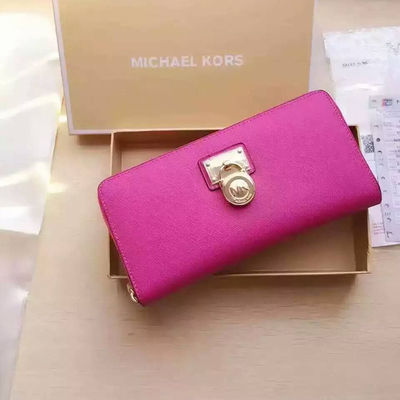 MICHAEL Michael Kors Hamilton Traveler Saffiano Leather Wallet Rose - 17.10.18