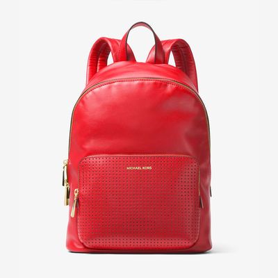 MICHAEL Michael Kors Wythe Large Perforated Leather Backpack Red - 03.11.18